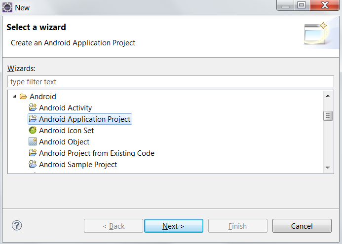 Select project