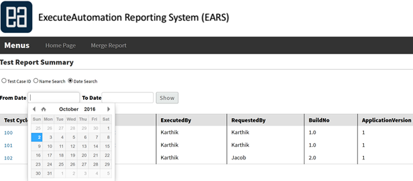 reporting – ExecuteAutomation