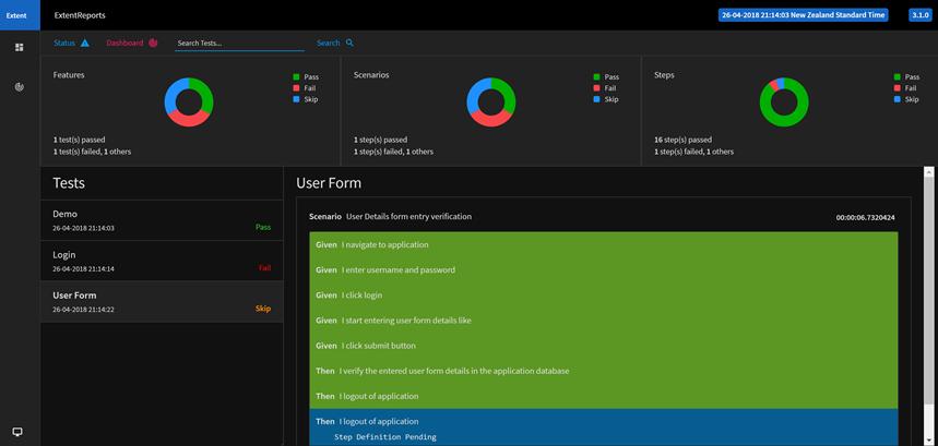 Generating Extent Report with Specflow and Selenium C#